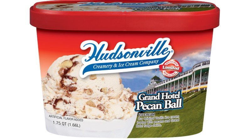 Hudsonville Grand Hotel Pecan Ball Ice Cream