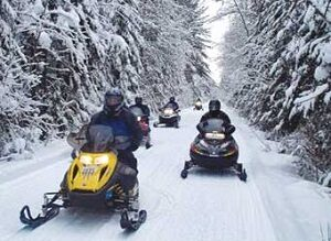 Snowmobilers Northcentral Trail