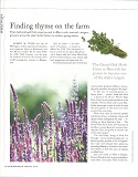 Finding Thyme on the Farm