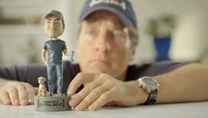 Mike Rowe and bobblehead
