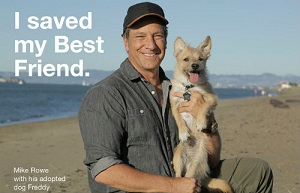Mike Rowe and his Dog