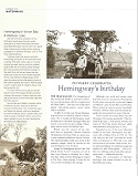 Petoskey Celebrates Hemingway's Birthday