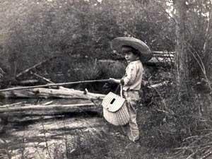Young Hemingway Fishing