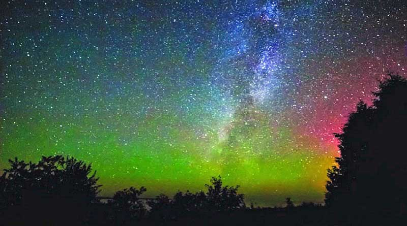 Milky Way and Northern Lights