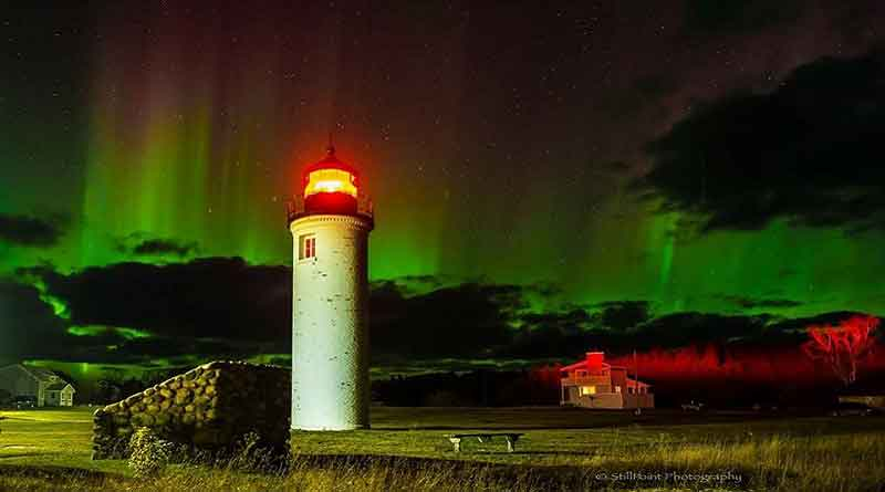 Northern Lights and Light Tower