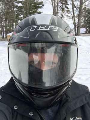 Dianna Snowmobiling