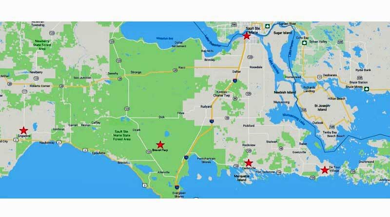 Upper Peninsula Map