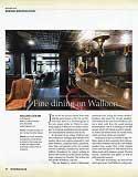 Fine Dining on Walloon